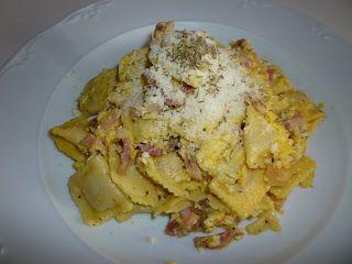 Mari Cocinillas - Ravioli con bacon y huevo receta italiana original
