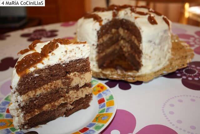 Mari Cocinillas - Tarta de dulce de leche y chocolate especial cumpleaños