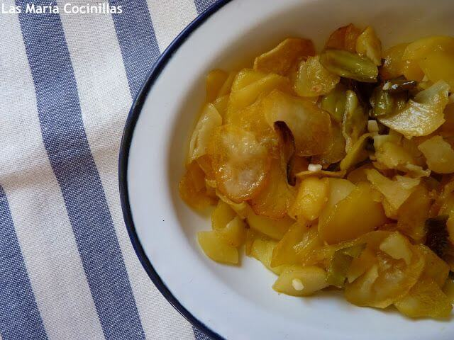 Mari Cocinillas - Patatas al Ajo Cabañil con salmón