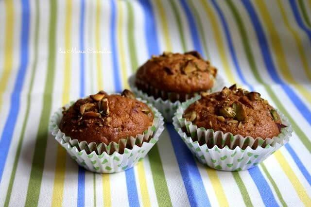 Mari Cocinillas - Muffins de Zanahoria y Pistachos