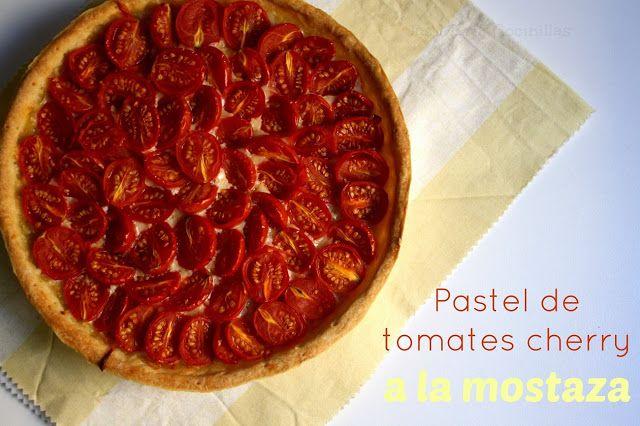Pastel de tomamtes cherry a la mostaza