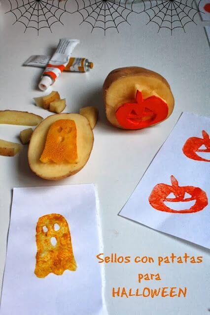 Mari Cocinillas - Sellos de Patata para Halloween