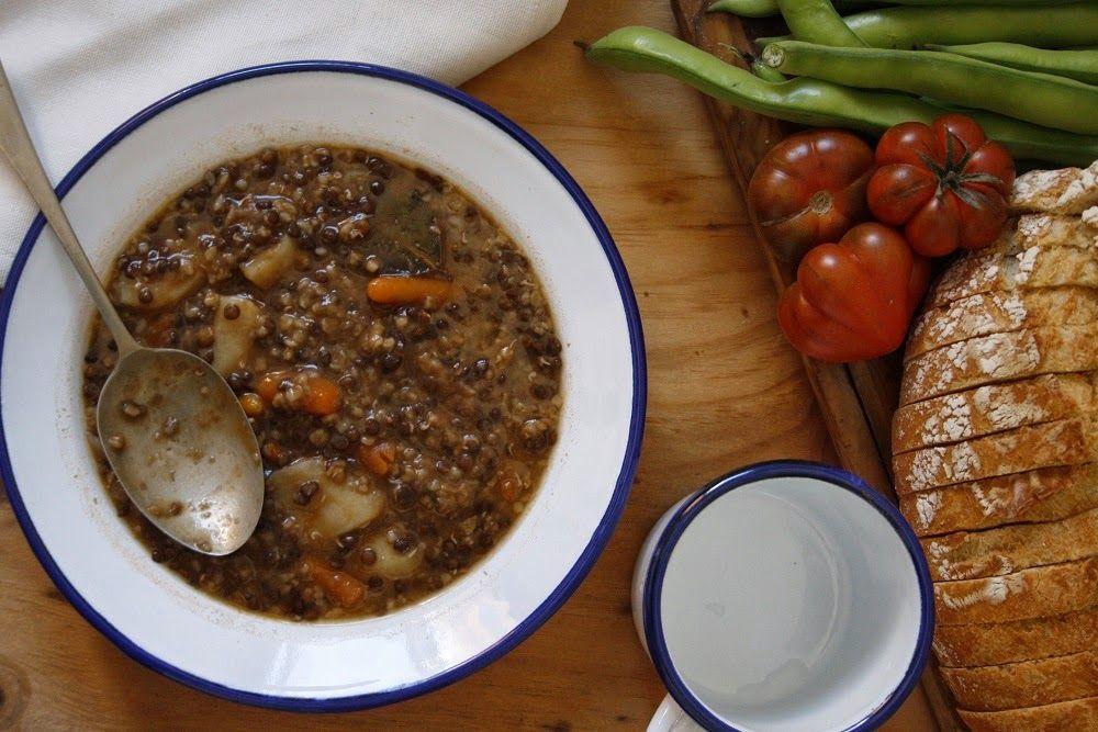 Lentejas estofadas con Bulgur