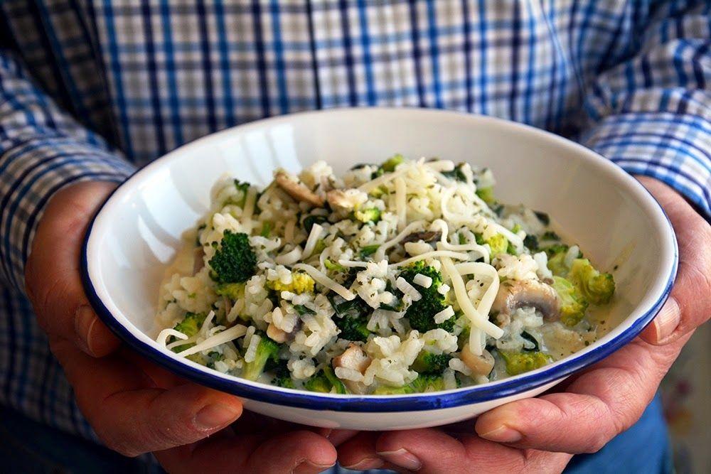 Arroz con Espinacas y Brócoli