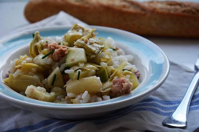 Mari Cocinillas - Ensalada de Arroz con Manzana, atún  y verduras