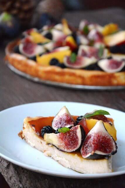 Mari Cocinillas - Tarta de queso con Higos y moras