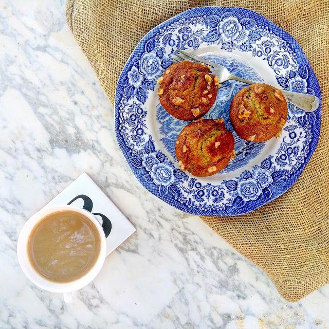 Muffins con plátano y nueces