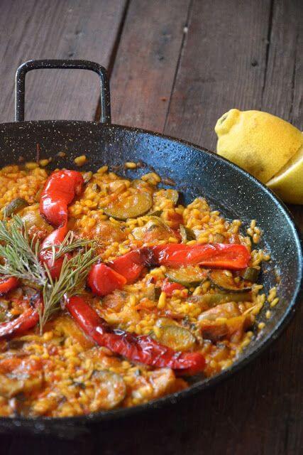 Mari Cocinillas - Paella de verduras
