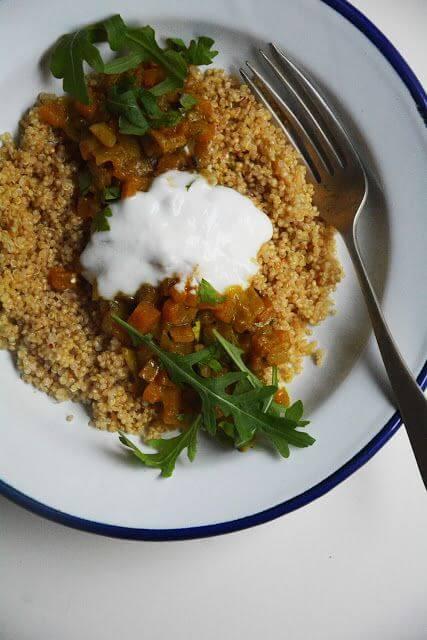Mari Cocinillas - Quinoa con curry de calabaza