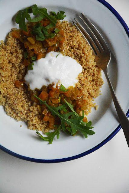 Quinoa con curry de calabaza