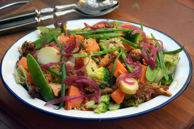 Ensalada de verduras con boniato