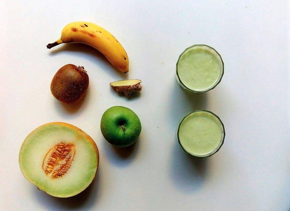 Mari Cocinillas - Licuado de melon, kiwi, platano, manzana y jengibre