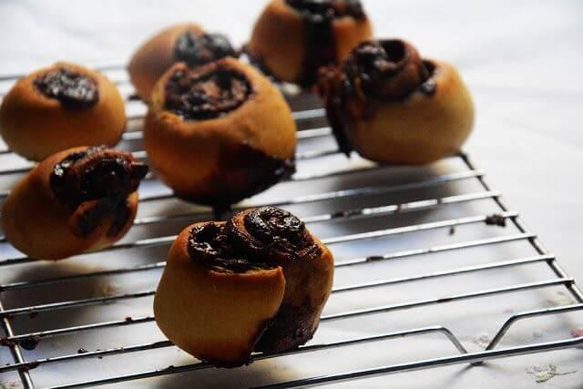 Nutella cinnamon rolls o rollitos de nutela y canela
