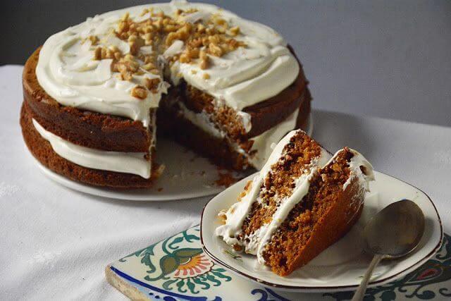 Mari Cocinillas - Pastel de zanahoria con fronsting de queso,  Carrot cake