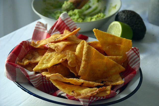 Como hacer Nachos caseros o totopos de maiz mexicanos