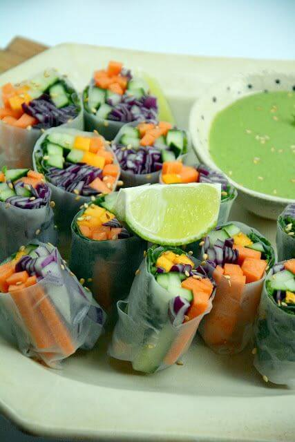 Mari Cocinillas - Rollitos de verduras o rollos vietnamitas