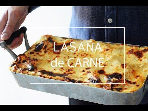 RECETA DE LASAÑA DE CARNE TRADICIONAL CASERA | Las María Cocinillas