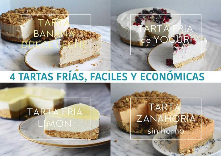 Mari Cocinillas - 4 TARTAS FÁCILES, SIN HORNO Y ECONÓMICAS PARA EL DÍA DE LA MADRE