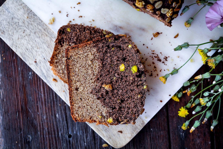 BANANA BREAD – BIZCOCHO DE PLÁTANO INTEGRAL CON CHOCOLATE