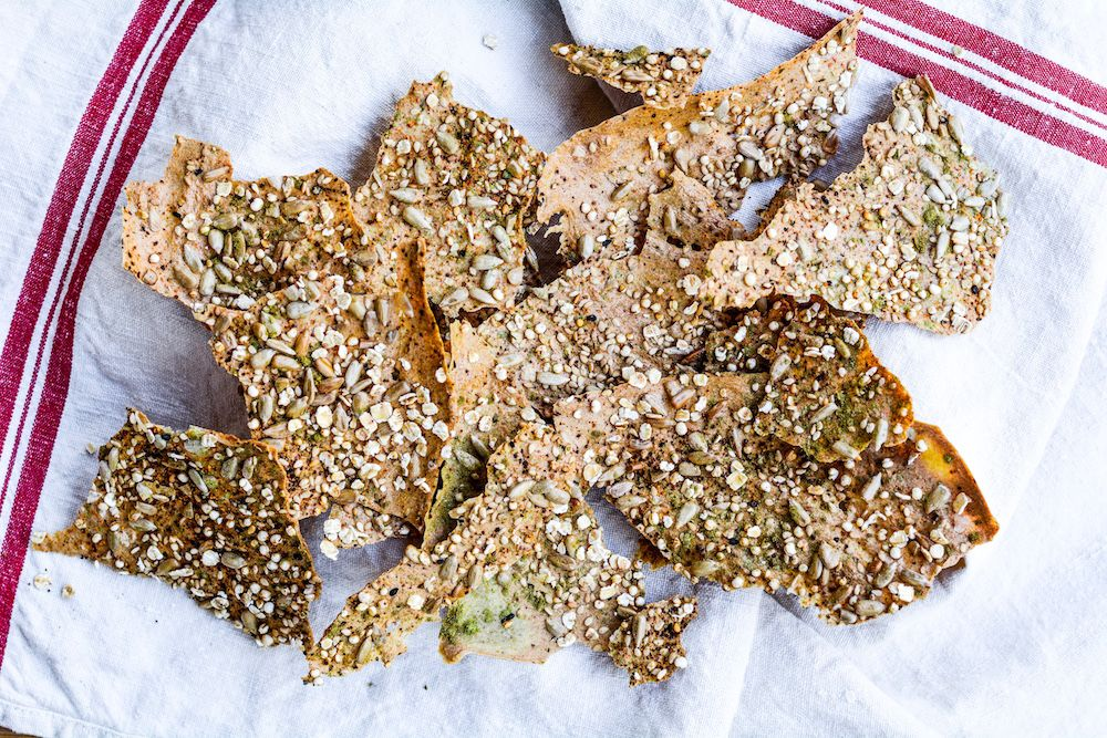 CRACKERS DE QUINOA Y SEMILLAS