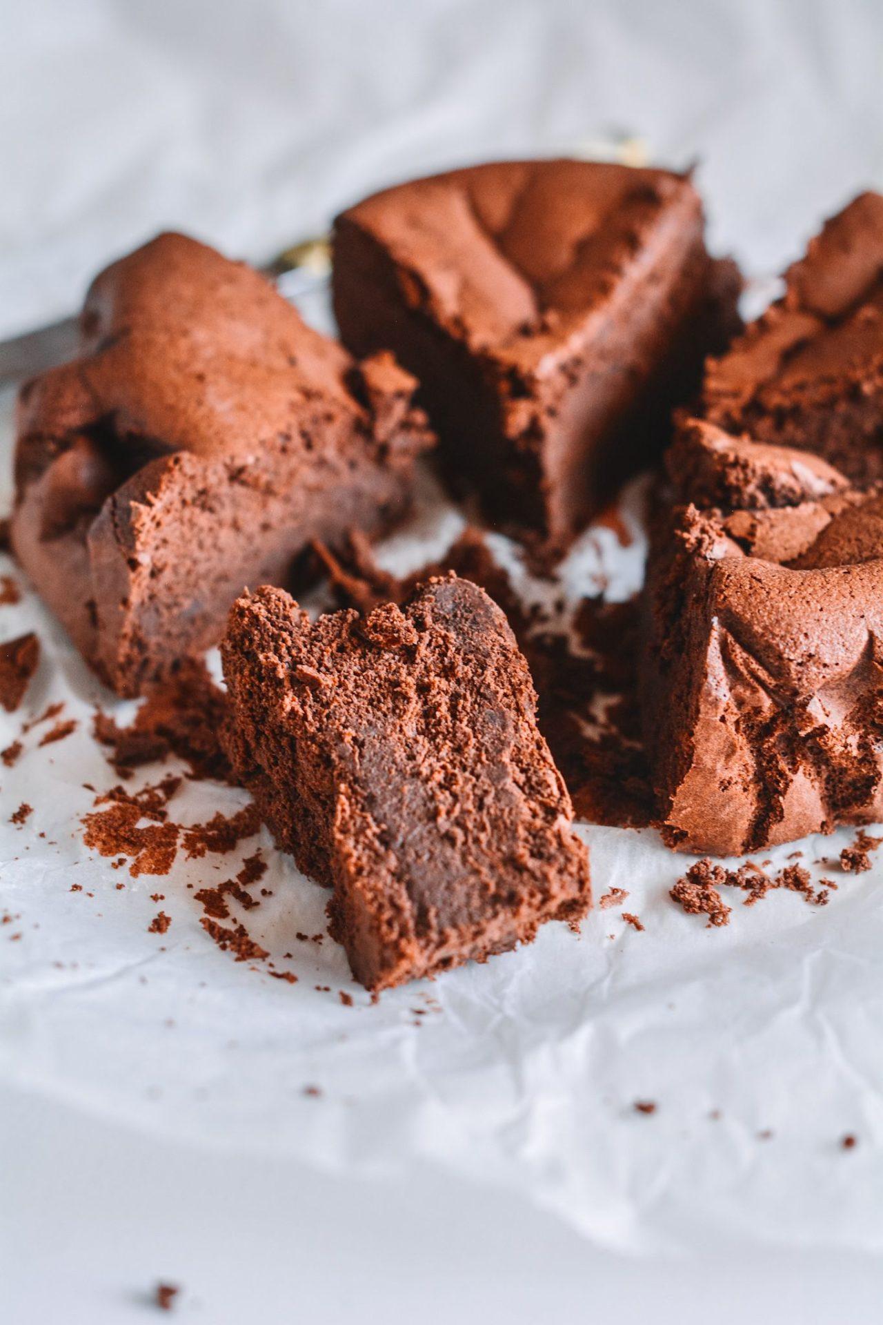 Tarta chocolate ¡Solo 2 ingredientes! ¡Sin harina! ¡Sin azúcar!