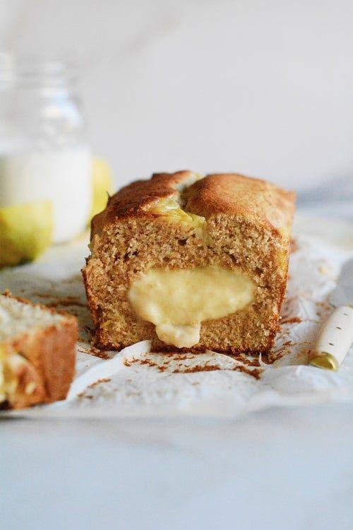 Bizcocho de limón relleno de crema pastelera Las María Cocinillas