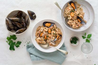 Mari Cocinillas - Como hacer un risotto frutti di mare receta
