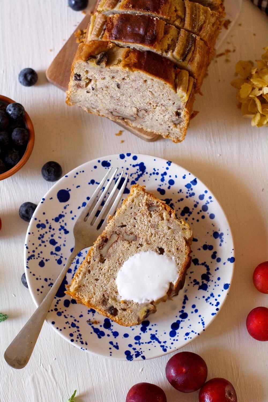 banana bread saludable