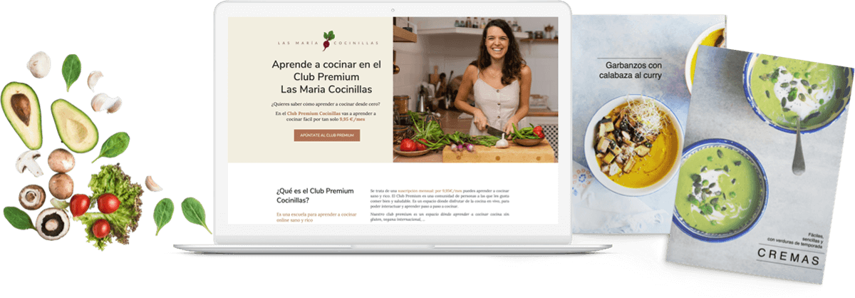 Las Maricocinillas - Creacion de Contenidos - Mockup